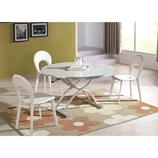 table basse relevable venezia finition verre blanc achat vente table basse table basse relevable venez cdiscount