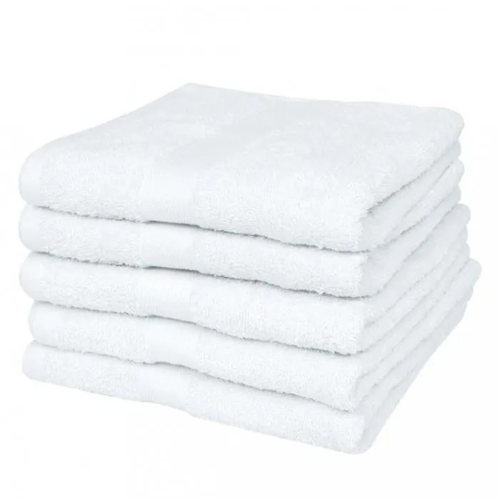 serviette blanche pas cher