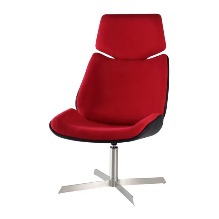 fauteuil design de bureau rouge cine