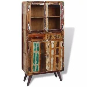 armoire de chambre placard bois de recuperation massif 90 x 40 x 190