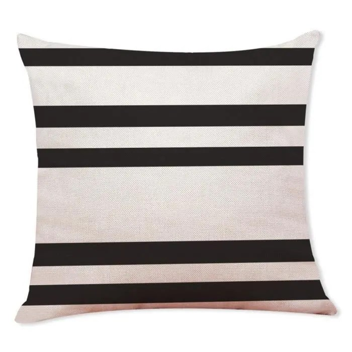couvertures uniques d oreiller de taie d oreiller de jet de geometrie noire et blanche