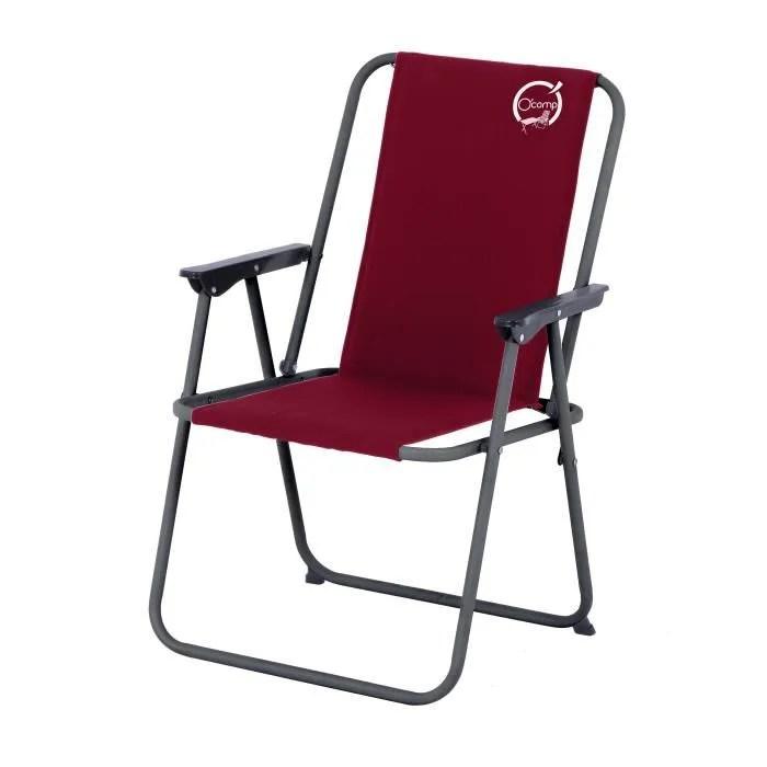 chaise de camping en toile