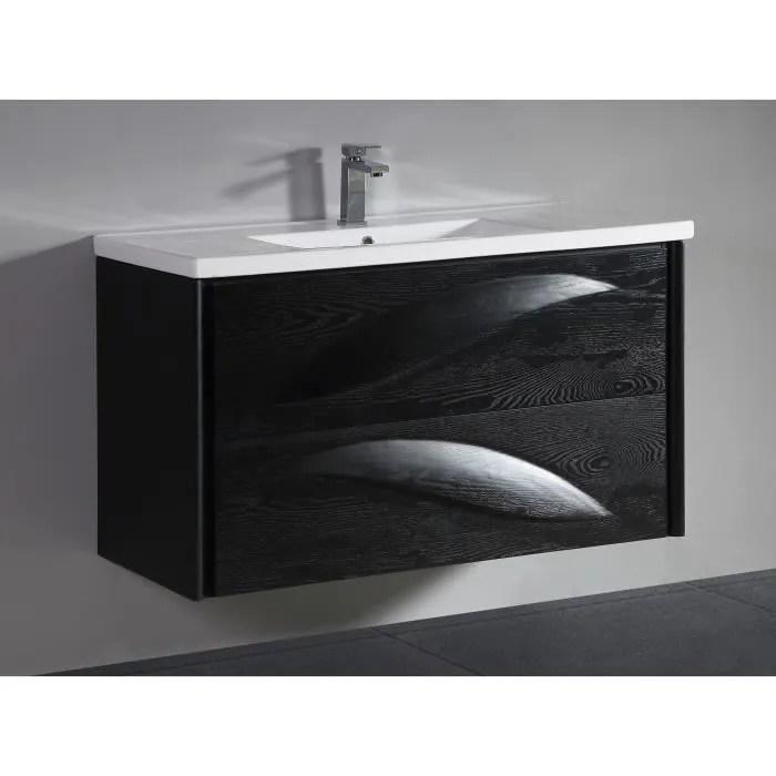 meuble salle de bain design luxe 80 cm noir