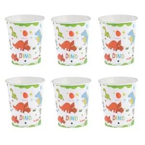 set vaisselle jetable 10 pcs tasses en papier dinosaure a motif jetable