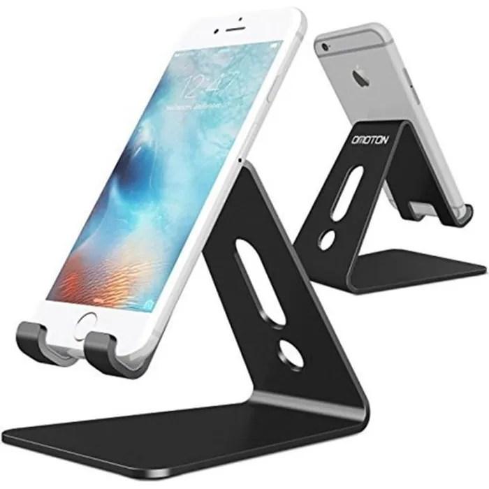 support telephone portable stand support de bureau pour e readers aluminium noir