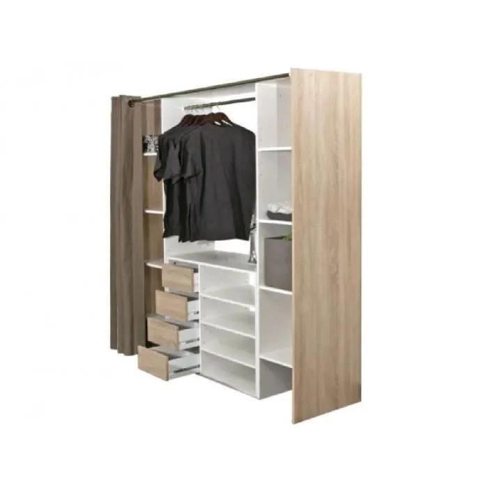 armoire de chambre ensemble dressing meuble de rangement emeric c