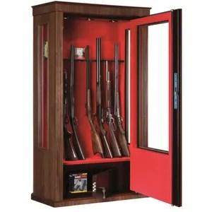 armoire a fusils porte vitree 12 16 armes bois noyer