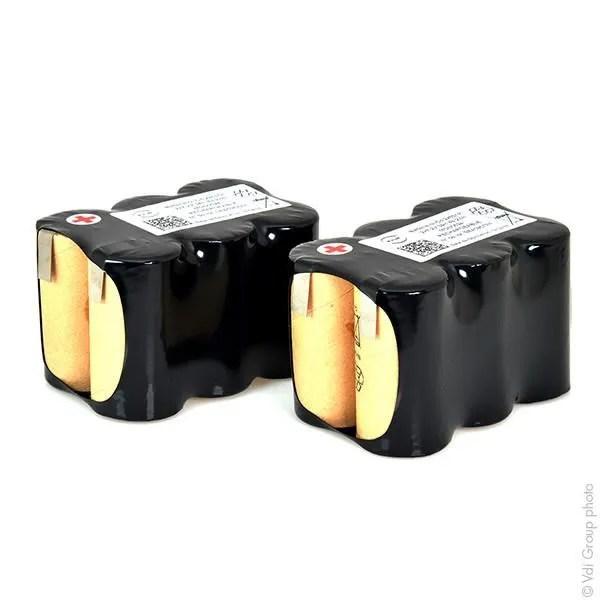 batterie nicd 12x c 12s1p st2 14 4v 3ah t2 ensemble de 2 batteries nx