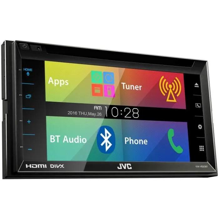 Jvc Autoradio Kw V620bt 2 Din Dvd Usb Ipod Iphone