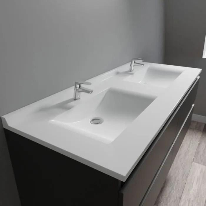 creazur plan double vasque blanc 140cm