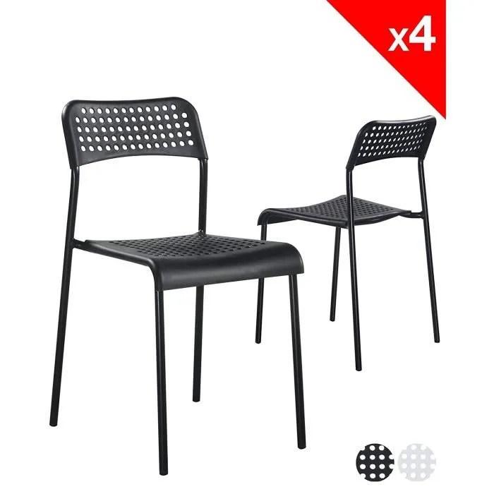 chaise empilable lot de 4