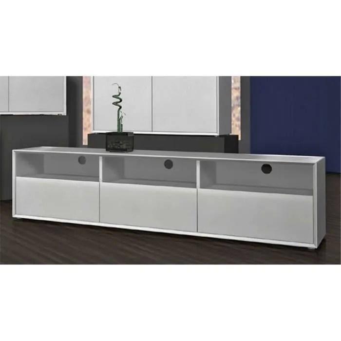 meuble tv avec 3 tiroirs coloris blanc l181 x h41 x p45 cm