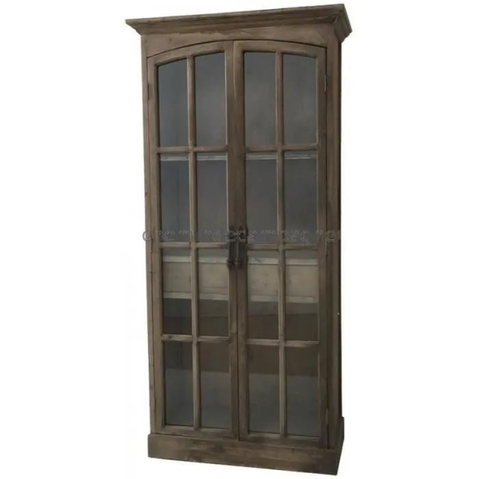 buffet bahut style ancienne grande bibliotheque armoire vitree