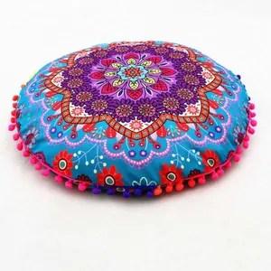 oreiller coussins de cas de plancher de mandala d indien d
