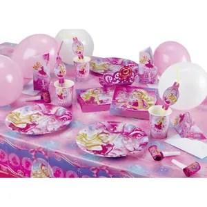 assiette jetable barbie coffret anniversaire 56 pieces