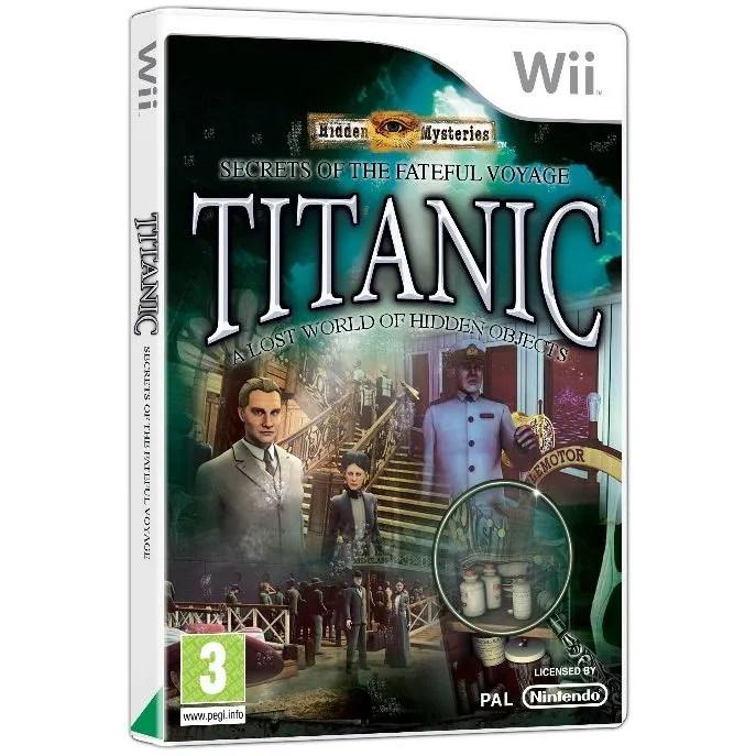 HIDDEN MYSTERIES TITANIC Jeu Console Wii Achat Vente
