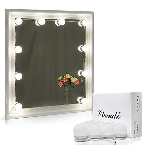 miroir maquillage hollywood kit de lumiere led a miroir de vanite luminosite reglable pour maquillage sur coiffeuse