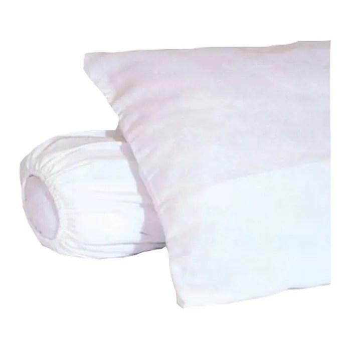 protege oreiller sous taie d oreiller molleton 100 coton gratte 60