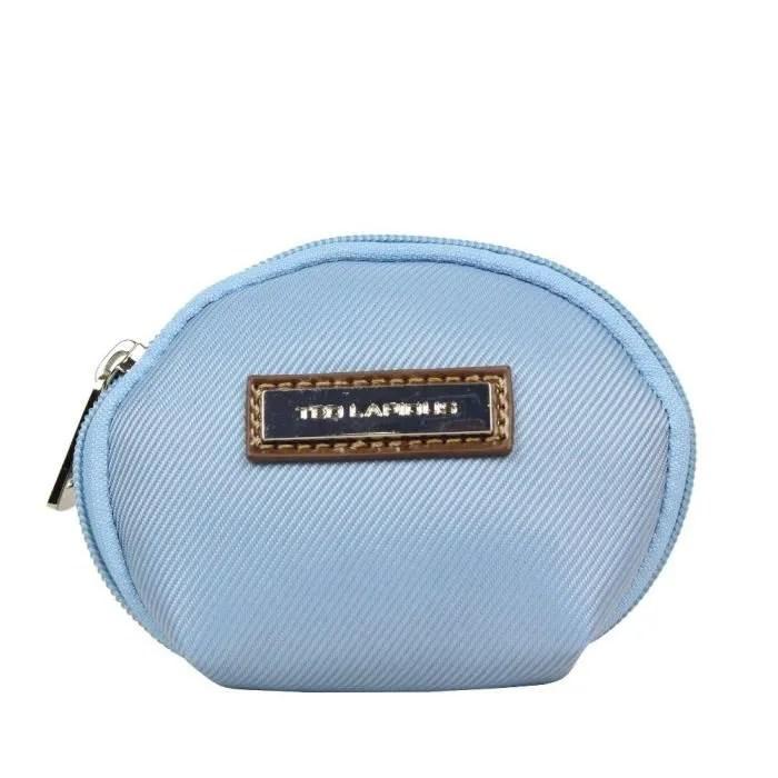 petit porte monnaie toile ted lapidus tl ny42003 bleu clair