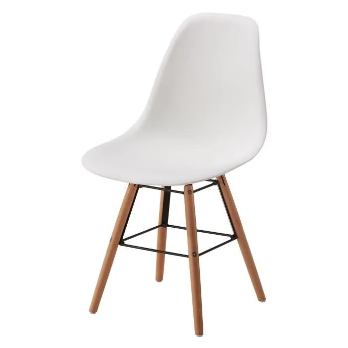 chaise bois blanche
