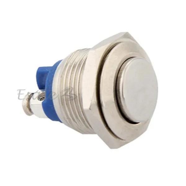 Bouton Poussoir Interrupteur Electrique 12V 16mm Pour