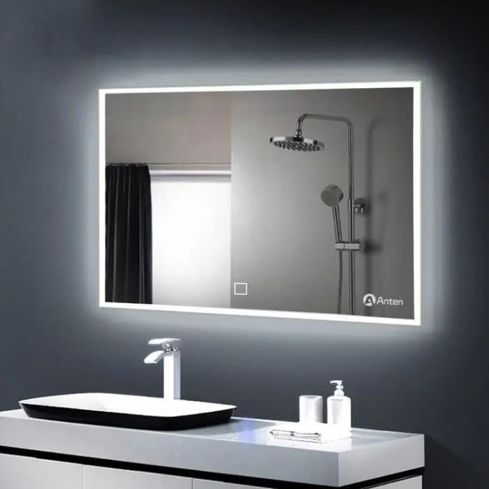 Anten 100 X 60 CM Miroir Clairage LED Lampe 25W Salle De