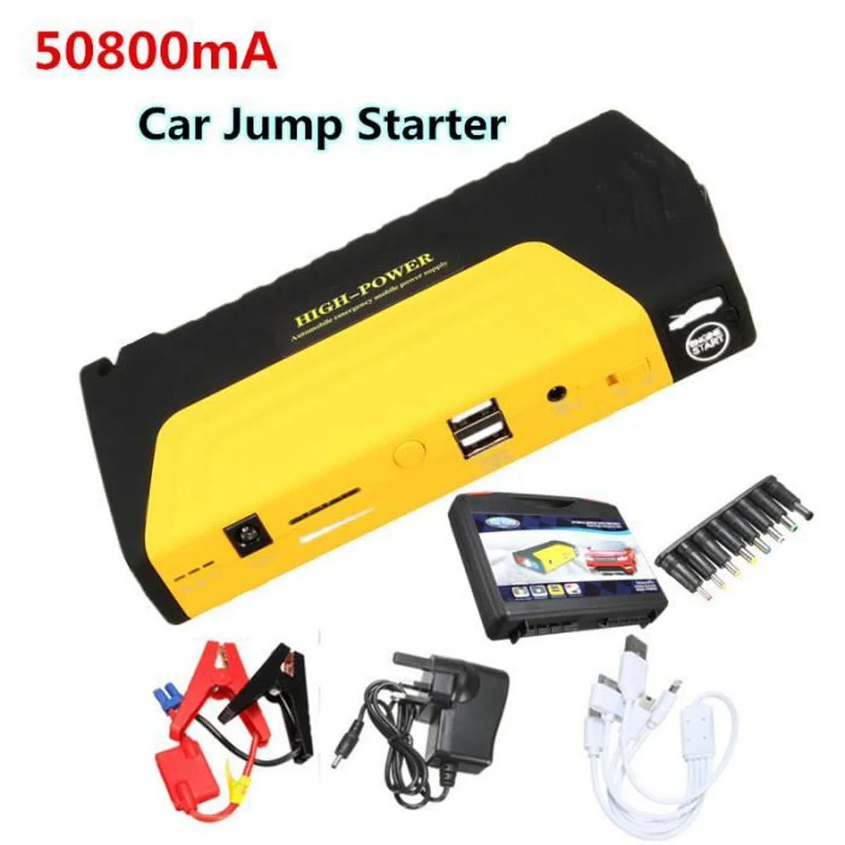50800mAh 12V Auto Booster Batterie Dmarrage Chargeur