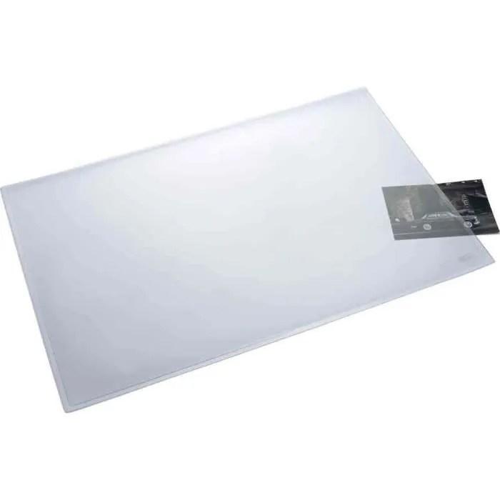 durable 720201 sous main avec rabat transparent format bureau 53 x 40 cm noir