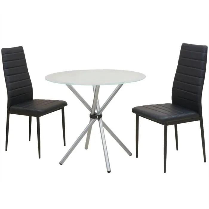 p92 ensemble de table et chaise de salle a manger 3 pieces