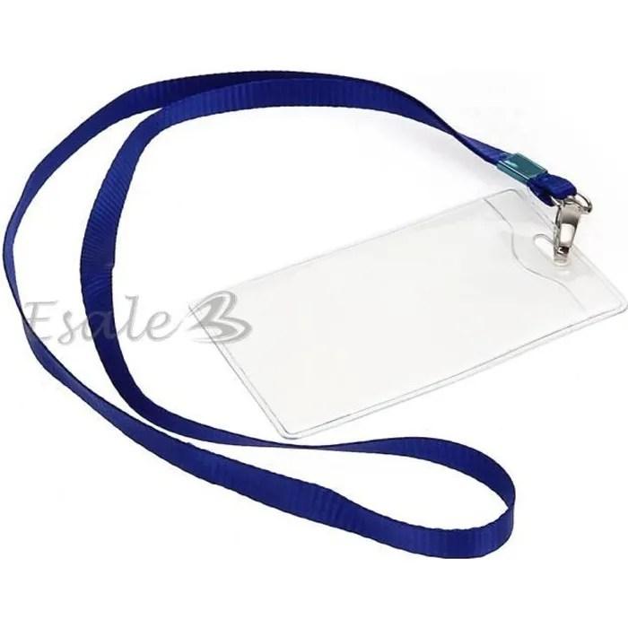 10 X Porte Badge Tui Protection Pour Carte De ID Travail