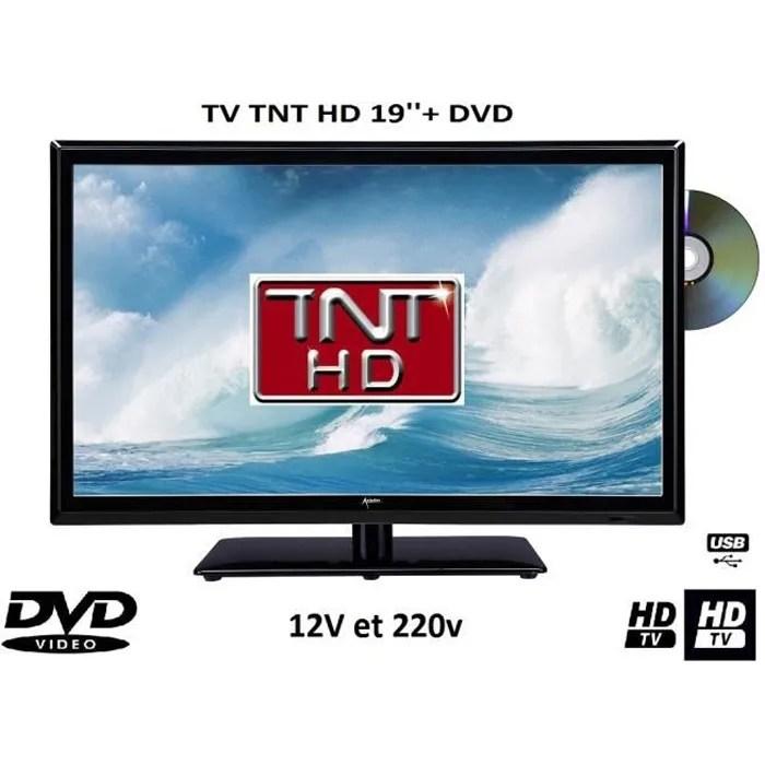 Tlvision TV DVD LED 19 12V 220V Camping Car