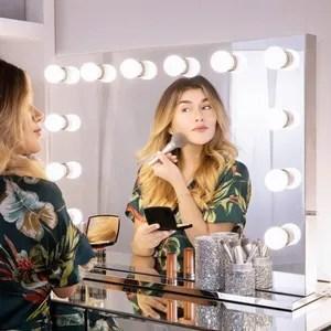 chende sans cadre miroir vanite de maquillage de hollywood avec plus beau miroir stade de lumiere 8065 sans cadre