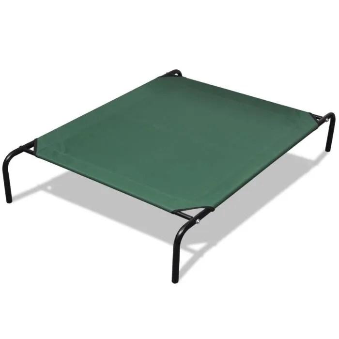 lit sureleve pour animaux avec cadre en acier 110 x 80 cm