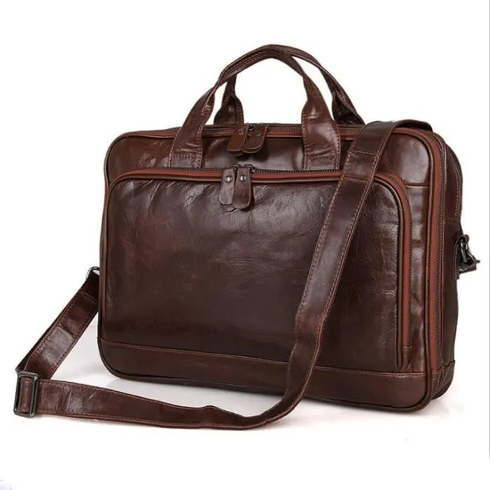 sacoche bureau homme bandouliere cuir sac a epqule main multifonction bussiness vintage marron