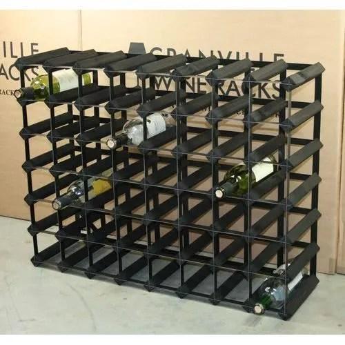56 bouteille de vin racks dimensions approximatives de casier a vin metric w81cm h 62cm metal finish noir acier pour bois n