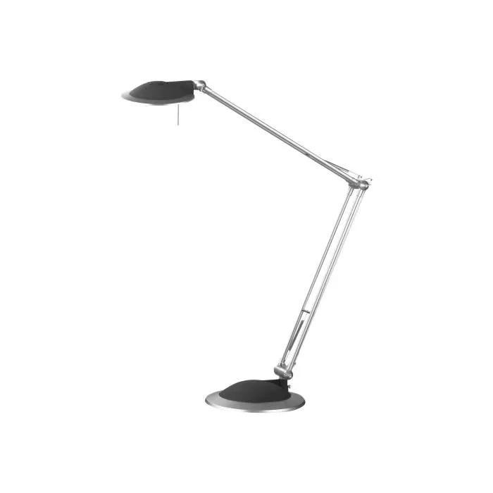 alco lampe de bureau ampoule halogene gy6 35 50 w argente e anthracite
