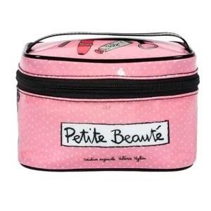 trousse de toilette petit vanity petite beaute rose mini trousse a a