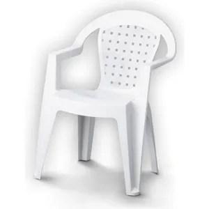 fauteuil jardin chaise de jardin norma en plastique resine blanc