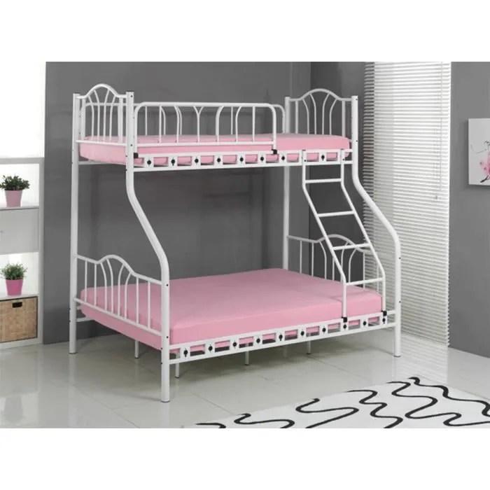 colosse lits superposes 2 personnes 1 personne blanc