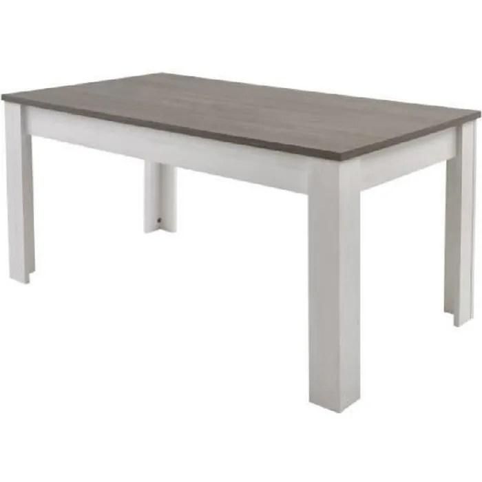 marquis table a manger de 6 a 8 personnes style contemporain decor pin et decor chene l 170 x l 90 cm
