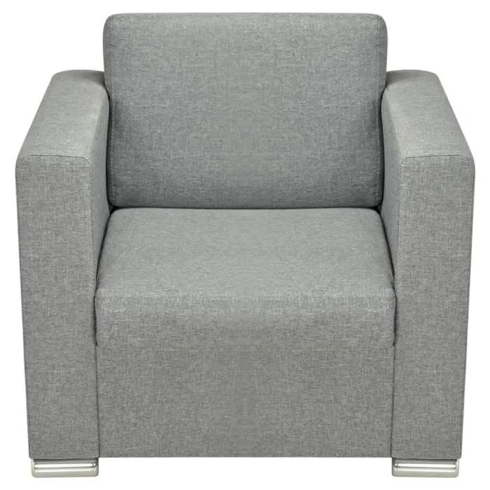 canape sofa divan canapes fauteuil simple tissu gris clair