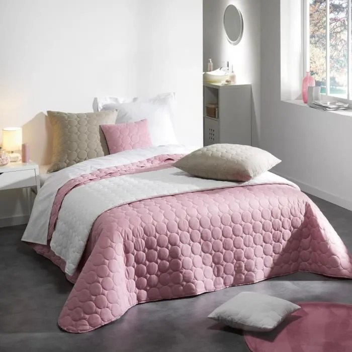 Couvre Lit Matelass 220x240 Cm Candy Rose Drage Achat