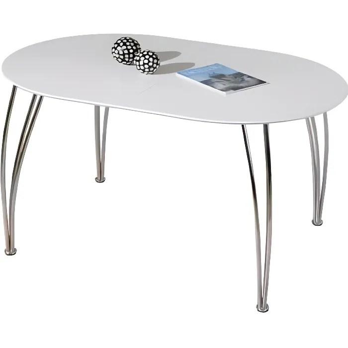 Table Ovali Ovale De Cuisine Blanche Meuble Salle Manger