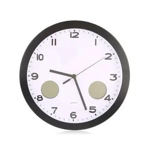 horloge pendule horloge murale quartz 12 pouces avec thermometre d