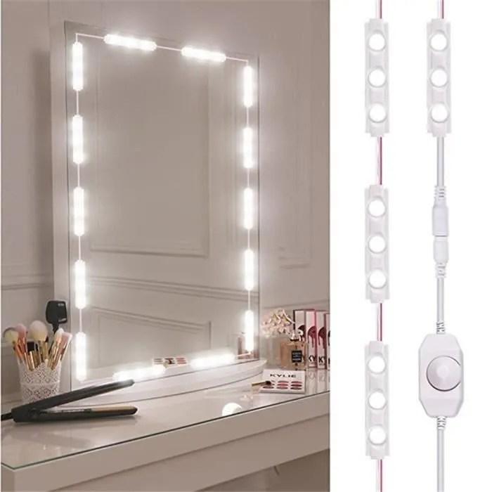miroir lumineux led maquillage eclaire pour coiffeuse de maquillage commode eclaire blanc