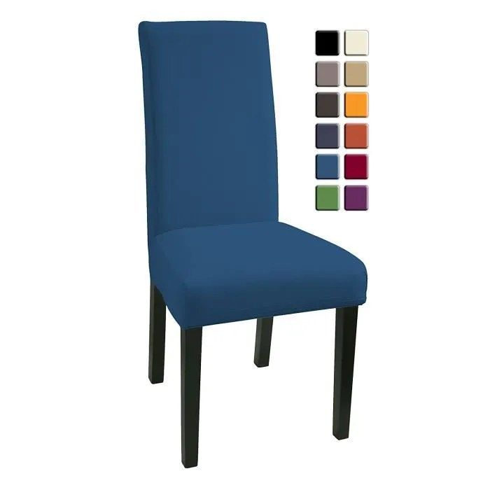 housses de chaises 4 pieces stretch housse bi elastique moderne housse decor couverture de chaise de materiau spandex