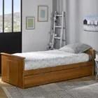 structure de lit lit gigogne 80x190 bois miel