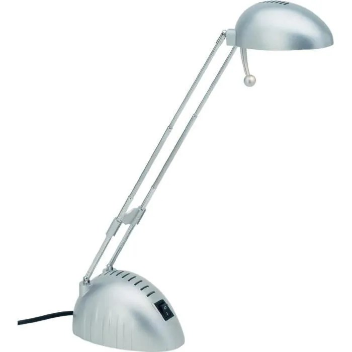 lampe de bureau brillant paddy titane 20w g4