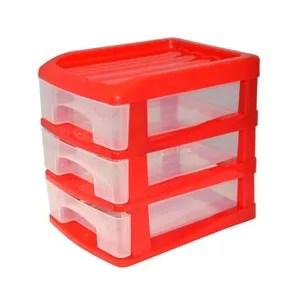 tour de rangement homea organiseur avec 3 mini tiroirs plastique 13x
