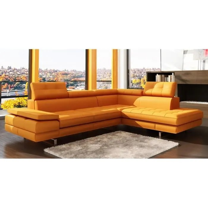Mobilier Table Canap D Angle Orange